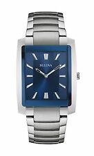 New Bulova 96A169 Blue Dial Classic Collection Stainless Steel Men's Watch