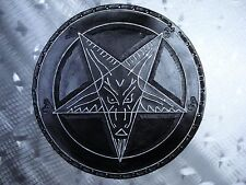 LEATHER TOOLING CARVED BAPHOMET BACKPATCH (leatherBK04) black metal. ANTON LAVEY