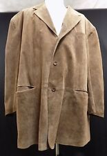 Mens J. Ferrar 100% Leather Suede Tan Coat 4XLT