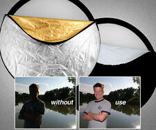 """24"""" 5-in-1 Photography Studio Multi Light Collapsible Disc Light Reflector 60cm"""
