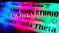 100 Customized LED Foam Sticks Light-Up Personalized Glow Wands Favor DJ Custom