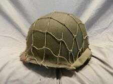 WW2 US Army Camo Net M1 Helmet 45th Infantry Liner Lt Marked Firestone Liner