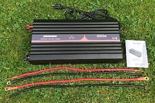 Solar Off Grid 2500 Watt Cont 5000 Watt Peak Inverter + 20 Amp Charger + Cables