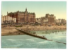 2 Victorian Views of Brighton From The Pier Beach Old Photos Pictures Prints NEW