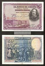 Spain 50 Pesetas 1928 ZF+ / Vg+  pn 75b