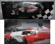 COA SIGNED MINICHAMPS PANASONIC TOYOTA RACING TF102 F1 CAR ALLAN MCNISH 1:18