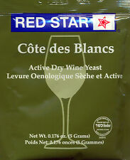 Red Star Cote des Blanc Wine Yeast, 5g - 10-Pack
