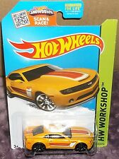 2015 Hot Wheels HW Workshop #232-250 Yellow '13 Chevy Camaro Spec. Ed. DiecasMal