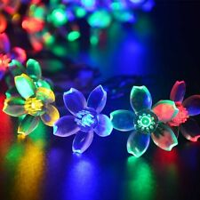 50 LED Blossom Flower Solar Powered Garden Fairy String Lights Outdoor Lamp