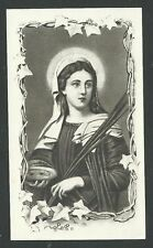 estampa antigua de Santa Lucia santino holy card image pieuse