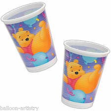 8 Disney Winnie The Pooh Children's Birthday Party Disposable 180ml Plastic Cups