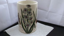 PORTMEIRION BOTANIC GARDEN TALL JAR BASE / UTENSIL JAR SHOWING  EASTERN HYACINTH