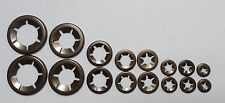 Assorted Starlock Washer 16pce    2 x 3mm, 4mm, 5mm, 6mm, 8mm, 10mm, 12mm ,16mm