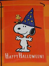 "Peanuts Snoopy Happy Halloween Garden Decorative Flag 12""X18""-New In Package"