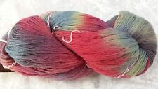 Araucania Ranco Sock Yarn #PT498 (306) Multy Coral, Blue & Lemon Verigated 100g