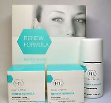 Holy Land Renew Formula Anti Aging Kit-Soap,Hydro-Soft Day,Night cream+samples