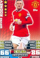 2014/2015 Match Attax # 196 Wayne Rooney - Manchester United