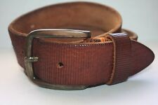 VG BOSS HUGO BOSS TEXTURED CALF SKIN BROWN MADE IN ITALY  Size 40 MSRP $155.00