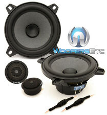 "FOCAL ISN100 4"" CAR AUDIO 4 OHM 40W RMS COMPONENT SPEAKERS MIDS TWEETERS NEW"