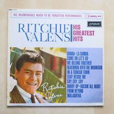 RICHIE VALENS Greatest Hits UK mono vinyl LP Plum London HA 8196 1964