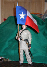 1/6 scale Texas White & Red Regimental Flag 2 sided