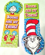NEW! 24 SEUSS CAT IN THE HAT SHAPED BOOKS ARE MY THING BOOKMARKS PARTY REWARDS