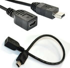 MINI USB B 5 PIN male plug to female extension data adapter cable lead 20cm