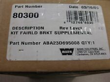 Warn Roller Fairlead Supplemental Bracket Part #ABA23D695008 NEW FREE SHIPPING