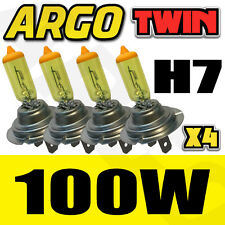 4 H7 XENON SUPER YELLOW 100W BULBS DIPPED BEAM 12V HEADLIGHT HEADLAMP HID LIGHTS