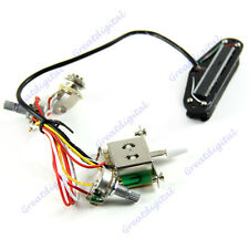 Electric Guitar Prewired Wiring Harness Pickup Volume Tone 3-Way Switch Jack
