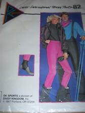 DK SPORTS #82 - LADIES STIRRUP or BIB OVERALLS SKI or SNOWBOARD PANTS PATTERN uc