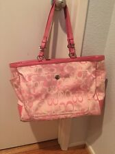 Coach Large Signature Carry All PINK Diaper Bag