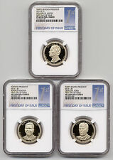 2016 S Proof Presidential $1 Dollar 3 Coin Set Ngc Pf 69 Ucam First Day of Issue