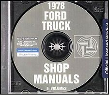 1978 Ford Truck Shop Manual Set on CD Pickup Bronco Van F100 F150 F250 F350