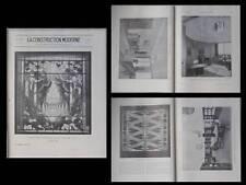 CONSTRUCTION MODERNE 1929 ART DECO, SALON D'AUTOMNE, PROU LELEU MERGIER GALLEREY