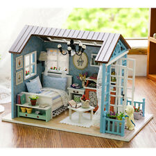 Wooden Plastic DIY DollHouse Miniatures Handmade Doll House Kids Birthday Gift