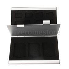 Aluminio Funda Estuche Caja Protector Para  Memoria Micro CF 8x TF 4x SD