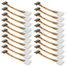 20X New IDE/Molex To Serial ATA SATA 4 PIN Power Adapter Cable