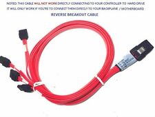 1M MiniSAS 36pin (SFF-8087) to 4XSATA Reverse Breakout cable with Latch