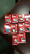 (10) VHTF LOUNGEFLY Sanrio HELLO KITTY & Friends  Buttons Pins New Cards 2009-10