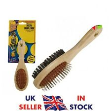 DOUBLE SIDED PET GROOMING BRUSH GROOMER PET CAT DOG HAIR FUR BRUSH COMB TIDY UK