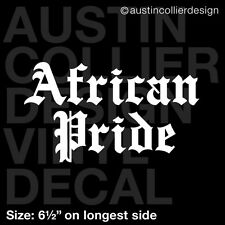 "6.5"" AFRICAN PRIDE vinyl decal car window laptop sticker - south africa native"