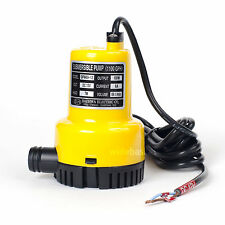 DPW69-12 DC 12V 100W Small Submersible Water Pump 1100GPH Max lift 7m for Pond