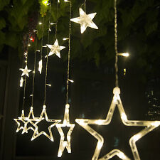 138 LED 12 Twinkling Star Fairy String Light Curtain Lamp In/Outdoor Decorations