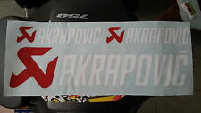 KIT 3 LOGHI STICKERS ADESIVI MOTO GRAFICA IN VINILE AKRAPOVIC CERCHI SBK RACING