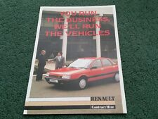 1986 RENAULT CONTRACT HIRE Lease 21 / 25 / EXTRA / TRAFIC UK A5 FOLDER BROCHURE