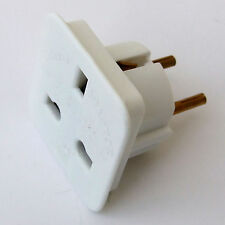 TRAVEL ADAPTOR WHITE 230V CONTINENTAL EUROPEAN (SCHUKO) TO 13A UK