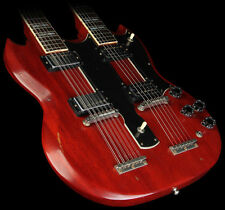 NEW EDS SG STYLE DOUBLE NECK 6/12 UNFINIHSED ELECTRIC GUITAR KIT VINTAGE TAILS