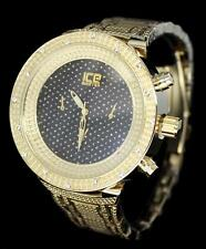 48mm Golden Tone iCE Master Hip Hop CZ Bezel Luxury Metal Mens Bling Wrist Watch