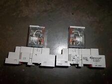 MAGNECRAFT 70-782D8-1 20A 300V RELAY SOCKETS 782XBXM4L COIL 120 VAC QTY 2 (JJ4)